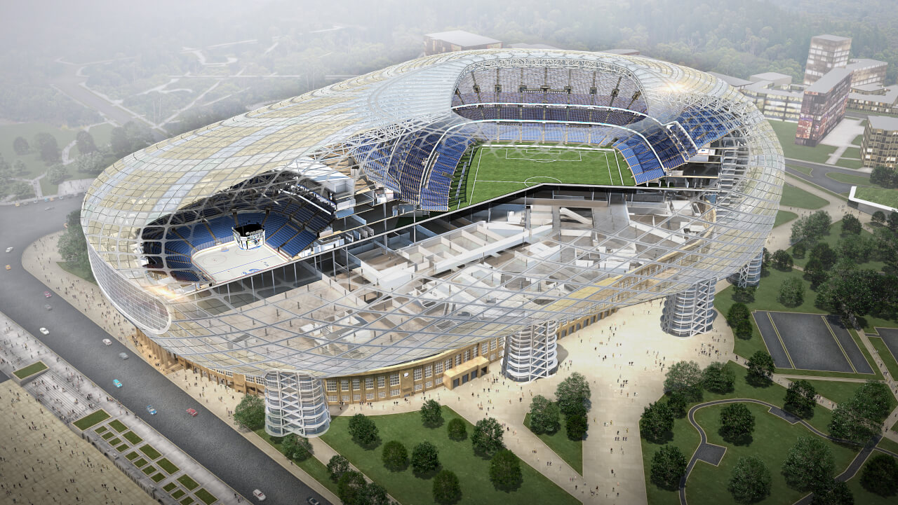 The Stadium Consultancy Was Contracted By Manica Architecture To Support  Them In The Design Development Of The VTB Arena, A Combined Stadium And  Indoor ...